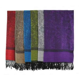 60 Units of Pashmina Scarves In Assorted Colors - Winter Scarves