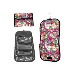 120 Units of Hanging Cosmetic Bag In Assoerted Prints - Folds Up To Store! - Cosmetic Cases
