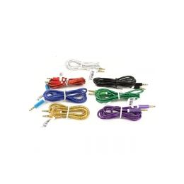 300 Units of PLASTIC WRAPPED AUXILLARY CORD IN ASSORTED COLORS - Cables and Wires