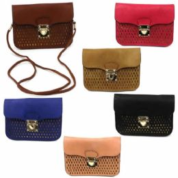 120 Units of DOUBLE POCKET CELL PHONE CROSS BODY BAG IN ASST SOLID COLORS - Shoulder Bags & Messenger Bags