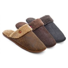 24 Units of Men's Clog with Plush Upper - Men's Slippers