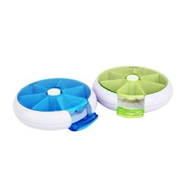 48 Units of ROTATING 7 DAY PILL BOX - PRESS THE BUTTON AND IT ROTATES TO THE NEXT COMPARTMENT!! - Pill Boxes and Accesories