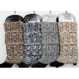 24 Units of Multi-color Cable Knitted Boot toppers Leg warmers Ast - Womens Leg Warmers
