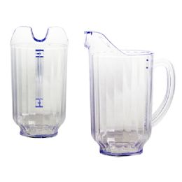 36 Units of Water Pitcher 1.75l 5'Dia X7.5'H - Plastic Drinkware