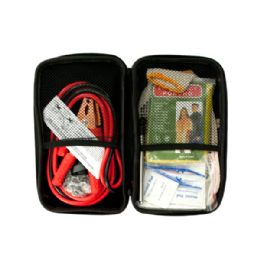 6 Units of Vehicle Emergency Kit in Zippered Case - Personal Care Items