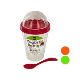 48 Units of Yogurt Cup With Topping Compartment & Spoon - Kitchen Gadgets & Tools