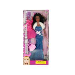 12 Units of Glamorous Black Fashion Doll with Extra Dress & Handbag - Dolls