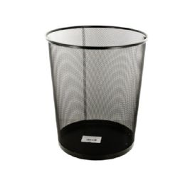 12 Units of Black Metal Mesh Waste Container - Storage Holders and Organizers