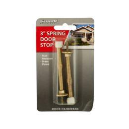 144 Units of BrasS-Plated Spring Door Stops - Doors
