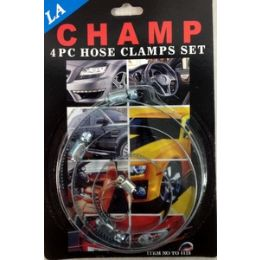96 Units of 4pcs large hose clamp set, 4 different size in a set. - Garden Tools