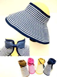 36 Units of Lady Sun Visor Hat assorted colors - Sun Hats