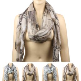 36 Units of Woman's Printed Scarfs - Winter Scarves