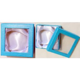 96 Units of Jewelry Display Gift Box Color Available at Blue, Pink, Purple. - Jewelry Box