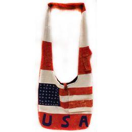 10 Units of Nepal Hobo Bags Large American Flag USA Letter - Shoulder Bags & Messenger Bags