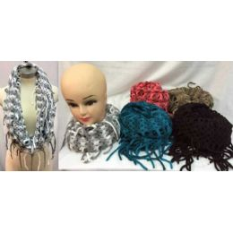 12 Units of MultI-Color Knitted Infinity Scarves - Winter Scarves