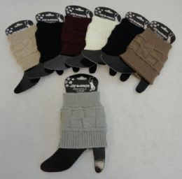 12 Units of Knitted Boot Cuffs [square Knit] - Womens Leg Warmers
