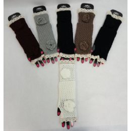 48 Units of Knitted Hand Warmer [knitted Flower] - Arm & Leg Warmers