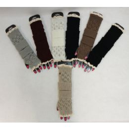 36 Units of Knitted Hand Warmers [Loose Knit] - Arm & Leg Warmers