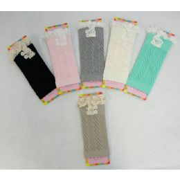 12 Units of Pastel Boot Cuffs [antique LacE-2 Buttons] - Womens Leg Warmers