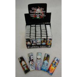 200 Units of Printed Slide Lighters [skulls] - Lighters