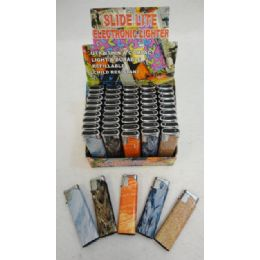 200 Units of Printed Slide Lighters [marbled Tones] - Lighters
