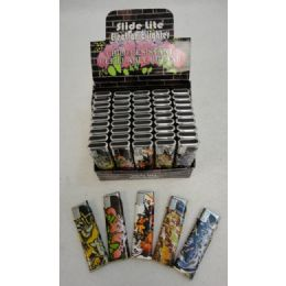 200 Units of Printed Slide Lighters [graffiti] - Lighters