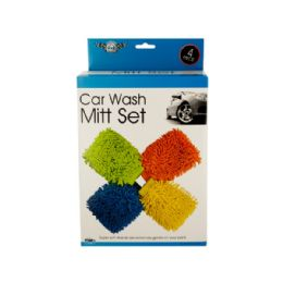 6 Units of Sterling Brand Super Soft Car Wash Mitt Set - Auto Cleaning Supplies