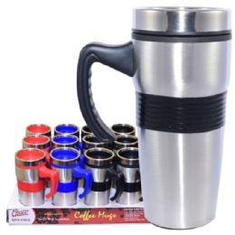 24 Units of Coffee Mug Insulated with handle & Grip - Coffee Mugs