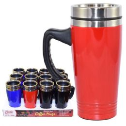 24 Units of Coffee Mug Stainless Steel with handle - Coffee Mugs