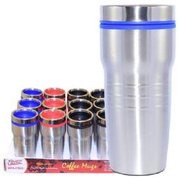 24 Units of Coffee Mug Insulated Color Top - Coffee Mugs