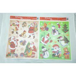 144 Units of Glitter Win Cling - Santa - Christmas Novelties