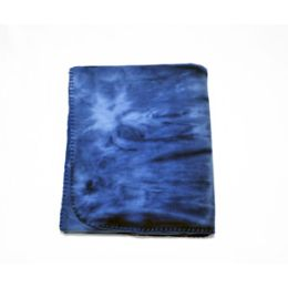 24 Units of Tie Dye Fleece Blanket 50x60 (blue) - Fleece & Sherpa Blankets