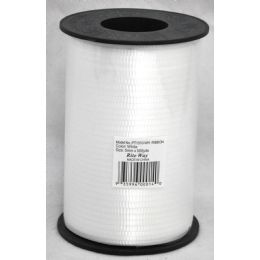 48 Units of 5mm X 500yds Ribbon - White - Bows & Ribbons