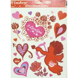 144 Units of Window Deco - Valentines - Valentines