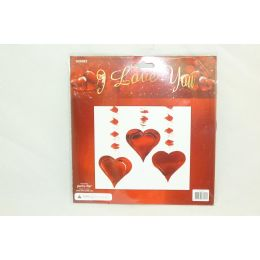 96 Units of 3pc Valentine's Day Decoration - Valentines
