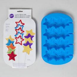 96 Units of Wilton Stacked Star Molds Blue - Baking Supplies