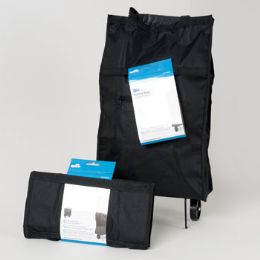 36 Units of Cart Rolling Fabric Bag Black - Bags Of All Types