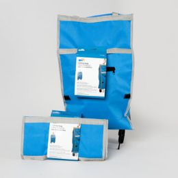 36 Units of Cart Rolling Fabric Bag Blue - Bags Of All Types