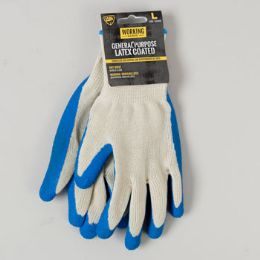 144 Units of Gloves General Purpose Latex Coated Large Working - Working Gloves