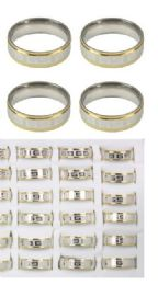 144 Units of Stainless Steel Rings - Rings