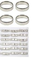 216 Units of Stainless Steel Rings Jesus Teaching On Prayer Spanish Version - Rings
