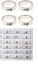108 Units of Stainless Steel Rings With Cross - Rings