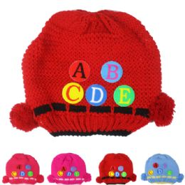 72 Units of Kid Winter Hat With Abc Assorted - Junior / Kids Winter Hats