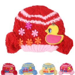 72 Units of Kid Winter Hat With Duck Assorted - Junior / Kids Winter Hats