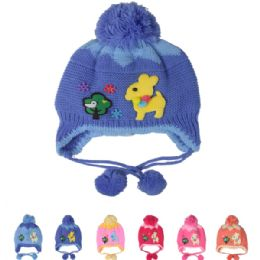 72 Units of Assorted Kids Winter Hat With Deer - Junior / Kids Winter Hats