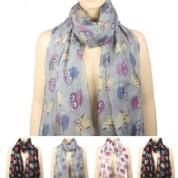 36 Units of Womens Fashionable Winter Scarf Owl Style - Winter Scarves