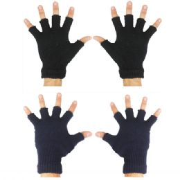 72 Units of Winter Gloves Fingerless - Knitted Stretch Gloves