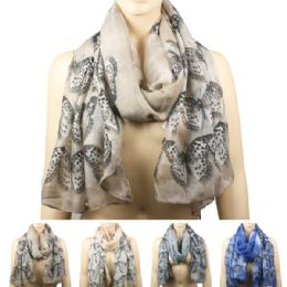72 Units of Scarf Ab 148 Butterflies - Winter Scarves