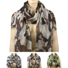 36 Units of Scarf Ab 147 Camouflage - Winter Scarves