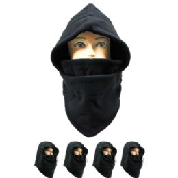 72 Units of MEN WINTER HAT IN BLACK - Unisex Ski Masks